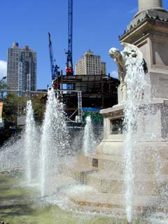 Columbus Statue Fountain