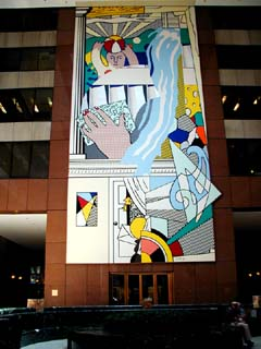 Roy Lichtenstein: Mural with Blue Brushstroke