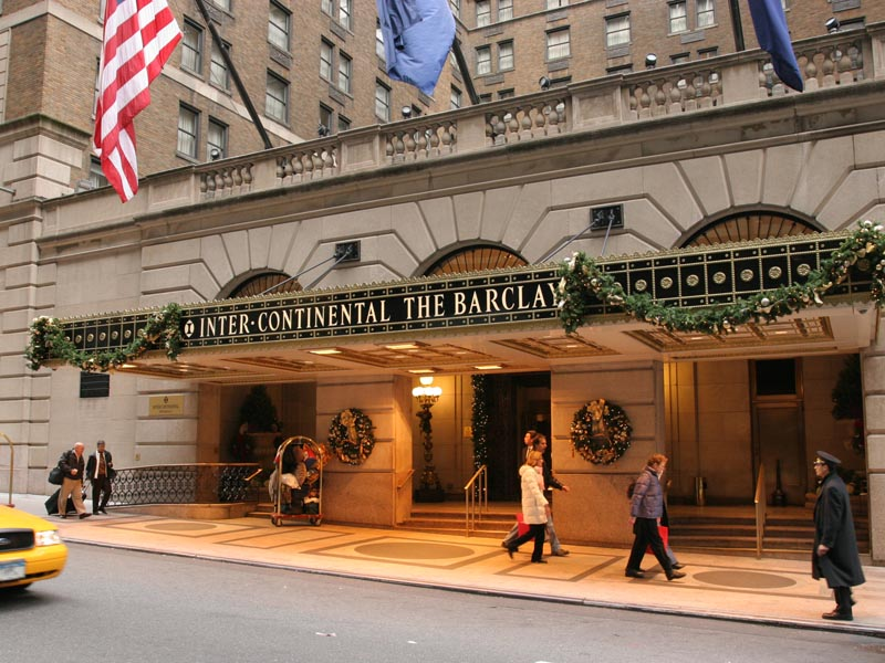 Intercontinental new york barclay wired new york for New york hotels