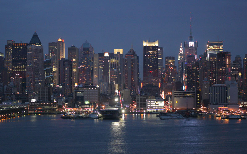 New york skyline at night – a view from weehawken 6 august 2005