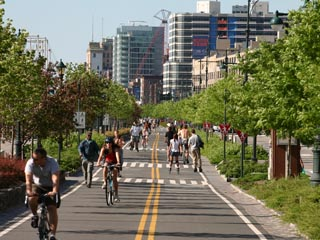 Biking - Hudson River Park