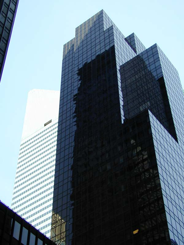 The Back Tower Of The Seagram Building The White Building On The Left