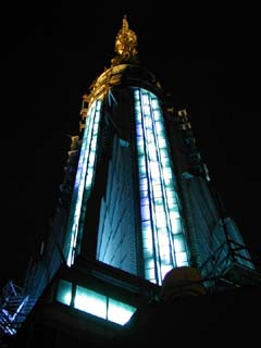 The spire of The Empire State Building