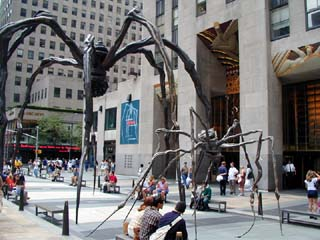 Louis Bourgeois Spiders at Rockefeller Center