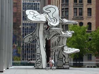 "The sculpture ""Group of Four Trees"" by Jean Dubuffet"