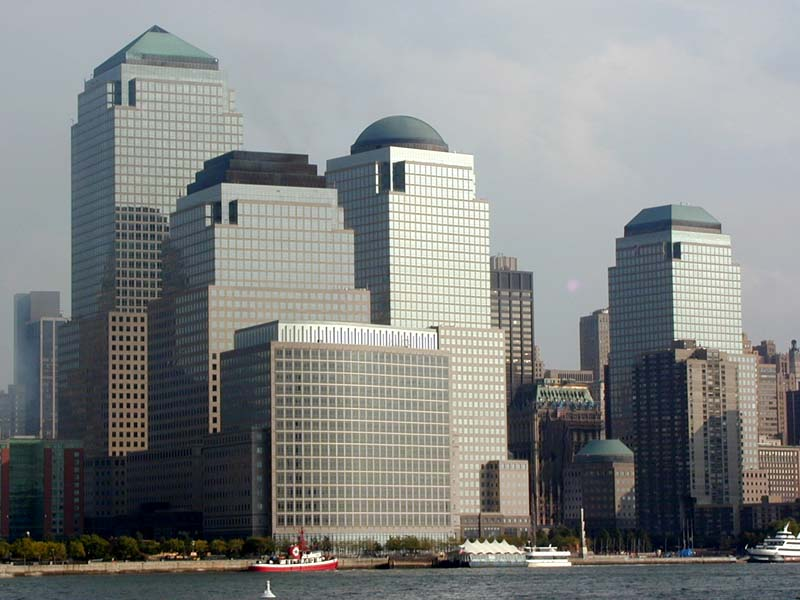 on the WORLD FINANCIAL CENTER from the Hudson River, with the World ...