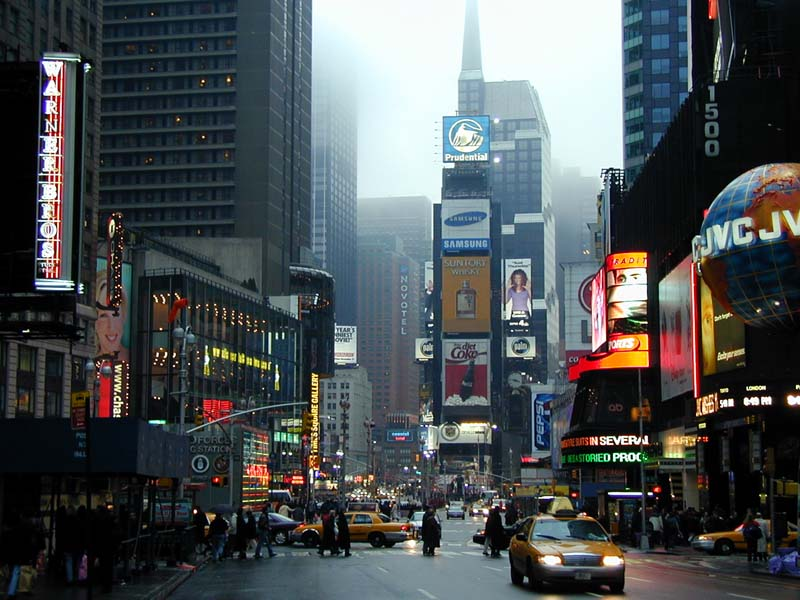 Times Square Wired New York