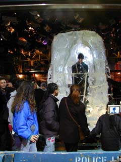 David Blaine on Times Square