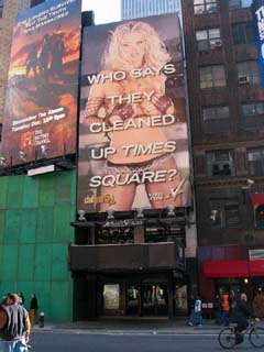 Sexy bodies in Times Square