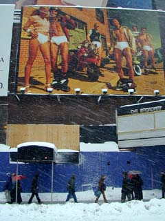 Jockey underwear in Times Square New York