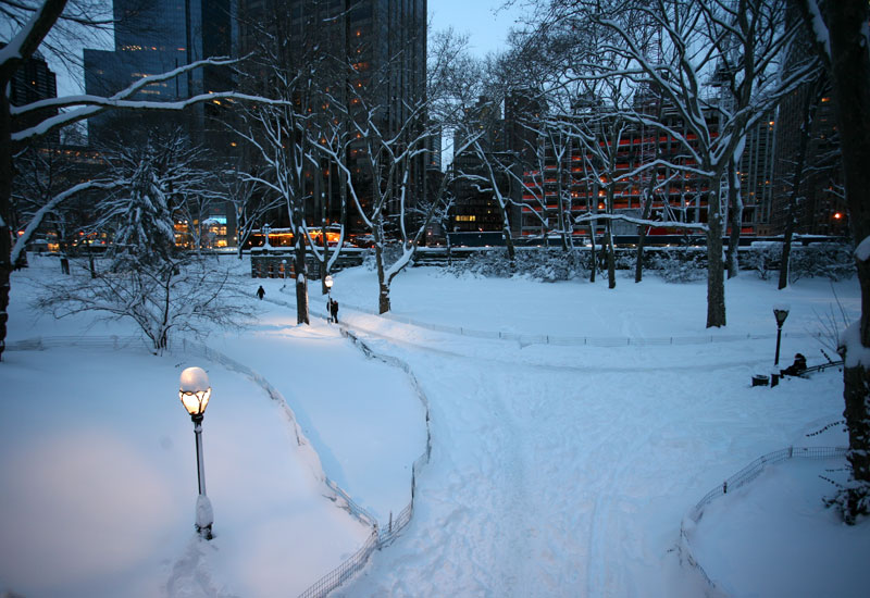 central park west. Central Park in snow and 15