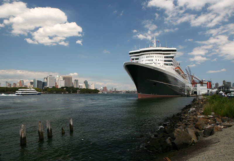The Queen Mary 2 at Brooklyn Cruise Terminal in Red Hook