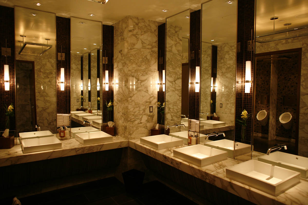 Intercontinental new york times square hotel wired new york for New washroom designs