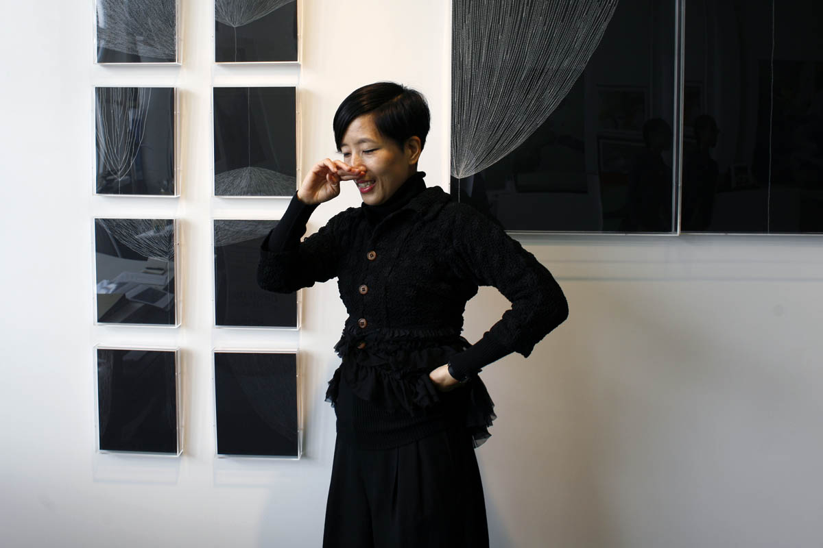 M. J. Chung in her Chelsea Studio
