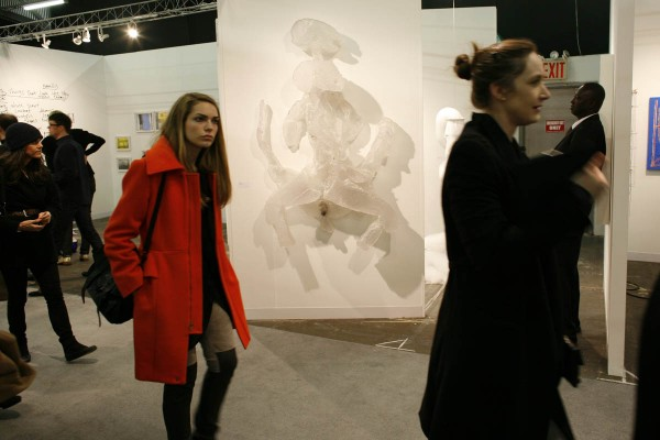Fiberglass sculpture by Roger Hiorns at the Armory Show